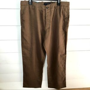 BANANA REPUBLIC Brown Linen Pants Size 36/34